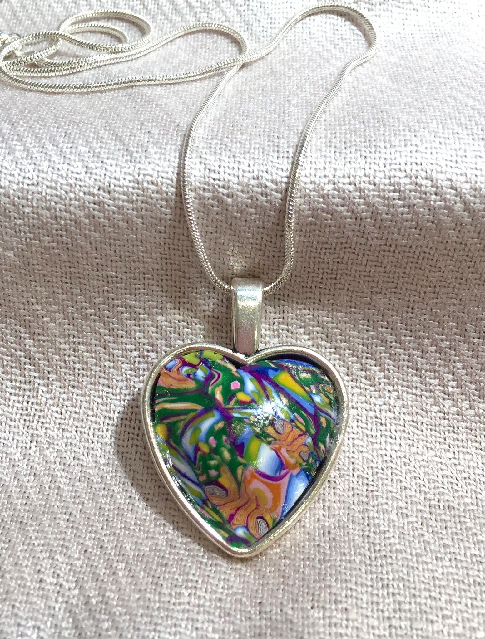 Non-Focal Heart Necklace