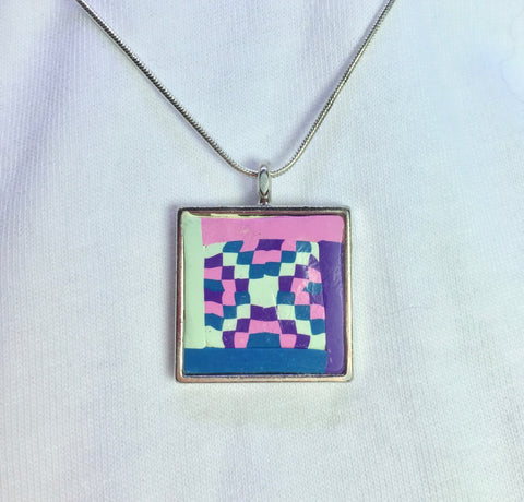 Quilt Block Necklace