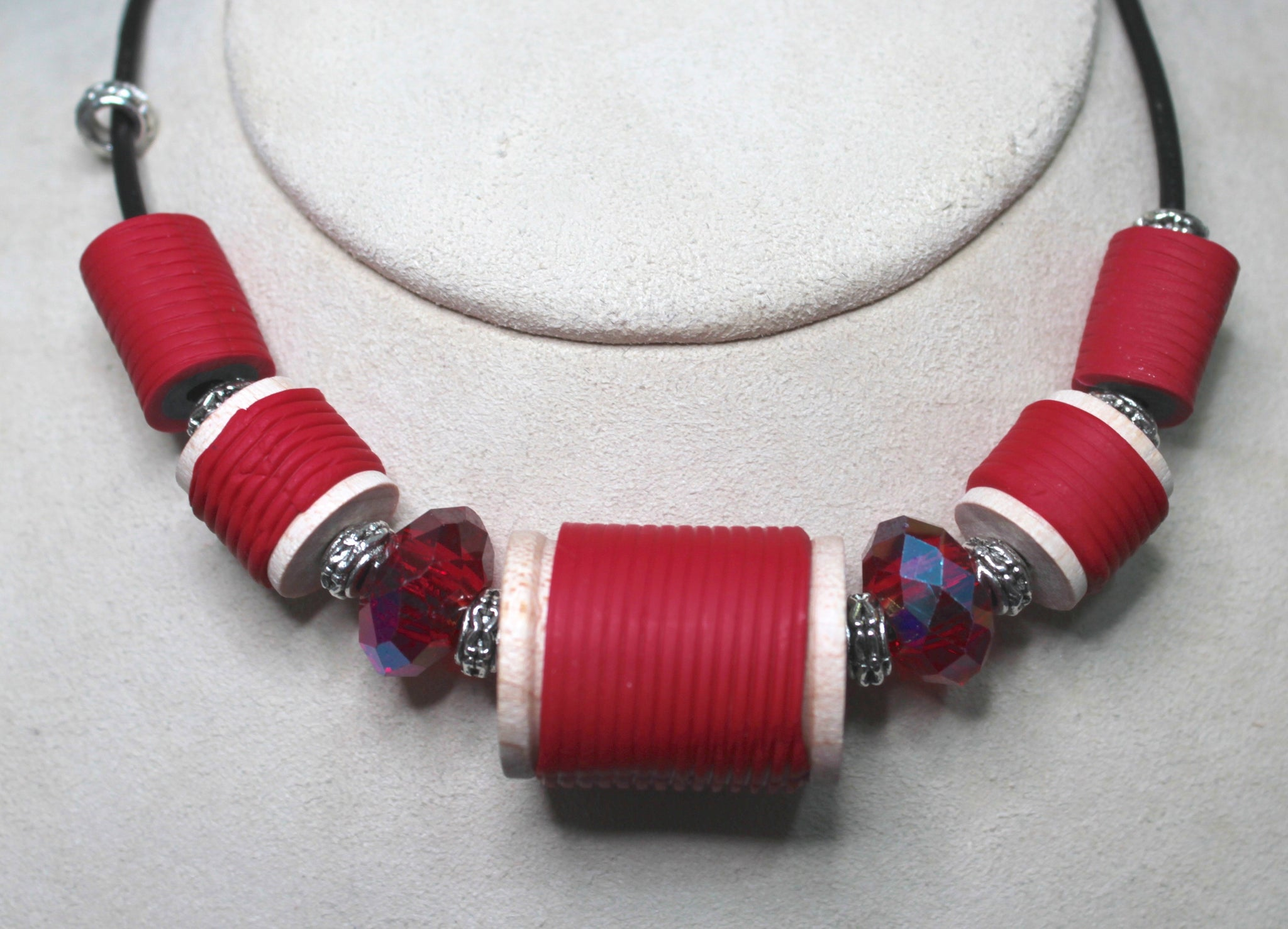 Red Spool Necklace