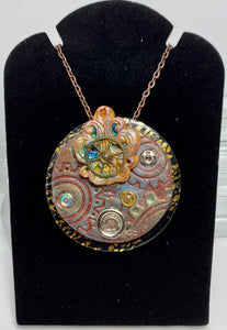 Round Steampunk Necklace
