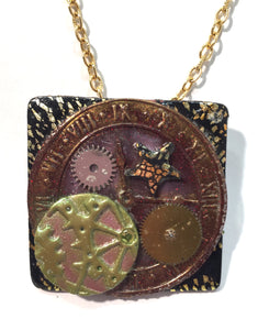 Square Steampunk Necklace
