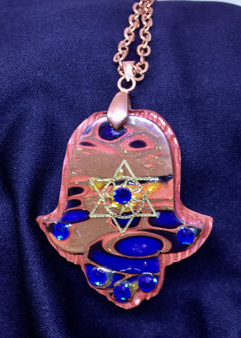 Star on Earth hamsa pendant