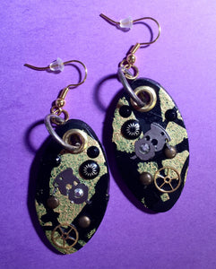 Steampunk'd Oval Earrings