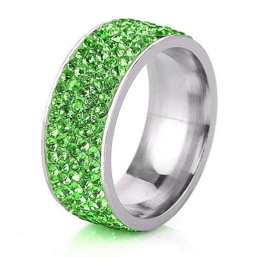 August Birthstone  - Classic Peridot Crystal Ring