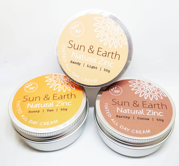 SUN + EARTH NATURAL ZINC - 3 SKIN TONES 50G - seo-img