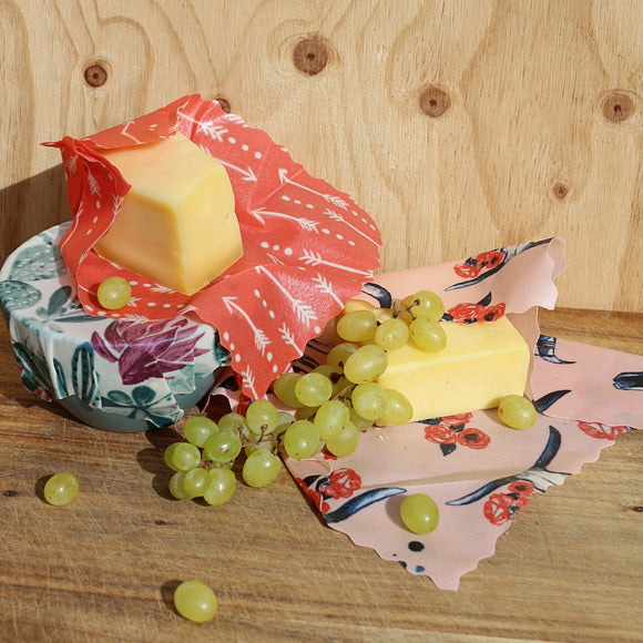 APIWRAPS REUSABLE BEESWAX WRAPS - CHEESE LOVERS PACK - seo-img