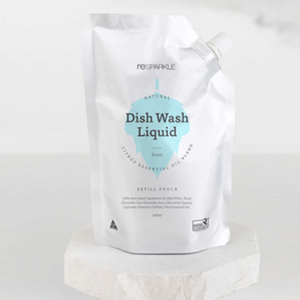 RESPARKLE NATURAL DISH WASH LIQUID REFILL POUCH - 500ML - seo-img