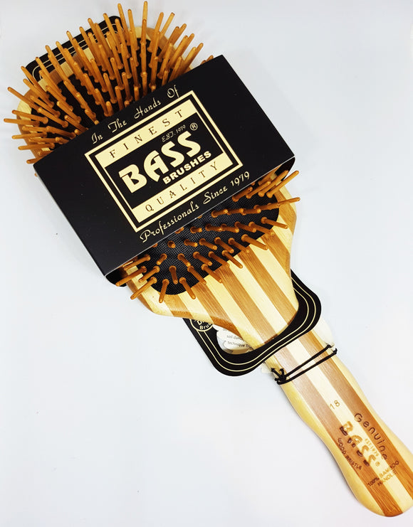 BASS BRUSHES BAMBOO HAIRBRUSH - LARGE PADDLE - seo-img