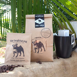 THE LAUGHING PUG DRIP COFFEE FILTER BAGS 10 PACK - seo-img