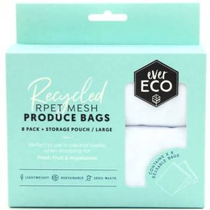 EVER ECO REUSABLE PRODUCE BAGS 8 PACK + STORAGE BAG - seo-img