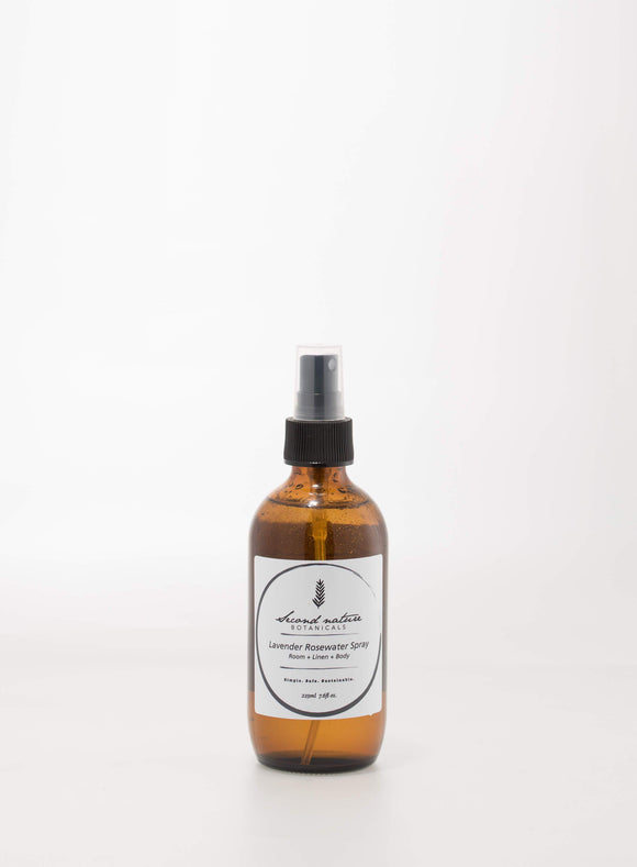SECOND NATURE BOTANICALS LAVENDER ROSEWATER SPRAY 225ml - seo-img