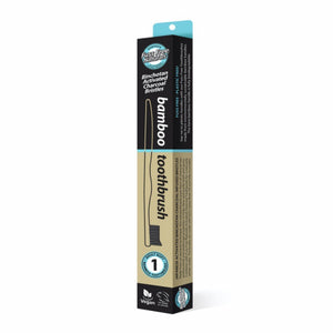 FUSS FREE ACTIVATED CHARCOAL BAMBOO TOOTHBRUSH - SOFT - seo-img