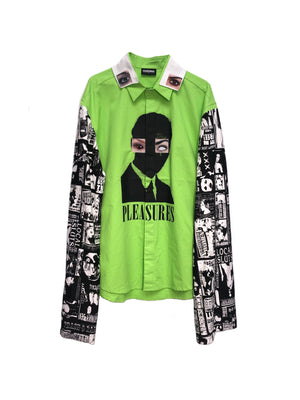 LHLA x PLEASURES UNSEEN EYE BUTTON UP