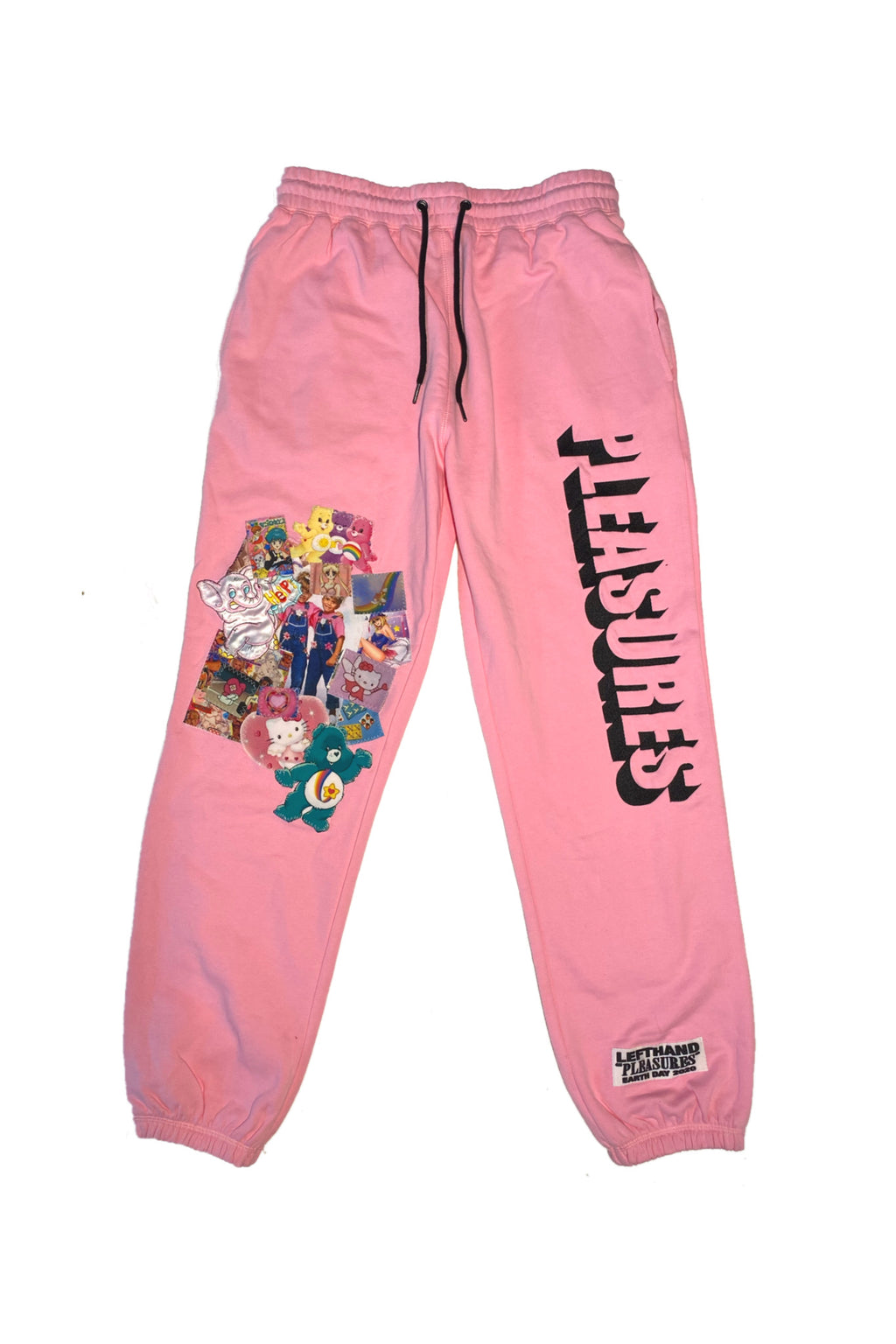 LHLA x PLEASURES PINK SWEATPANTS