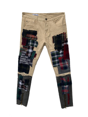 Plaid scrap pants