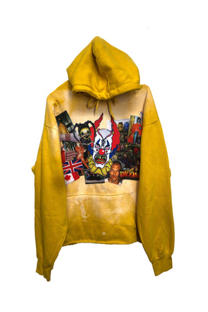 Yellow bleached hoodie