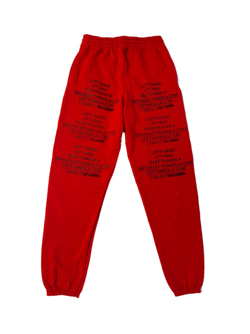 Red logo sweats