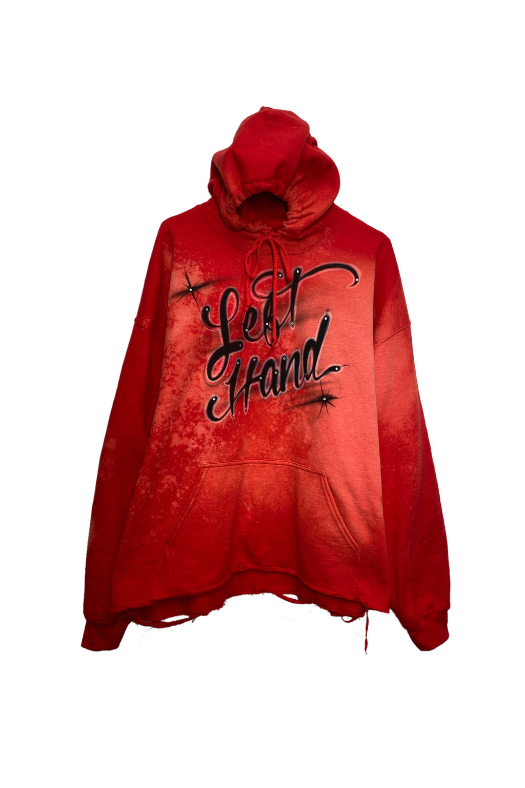 Red left hand hoodie