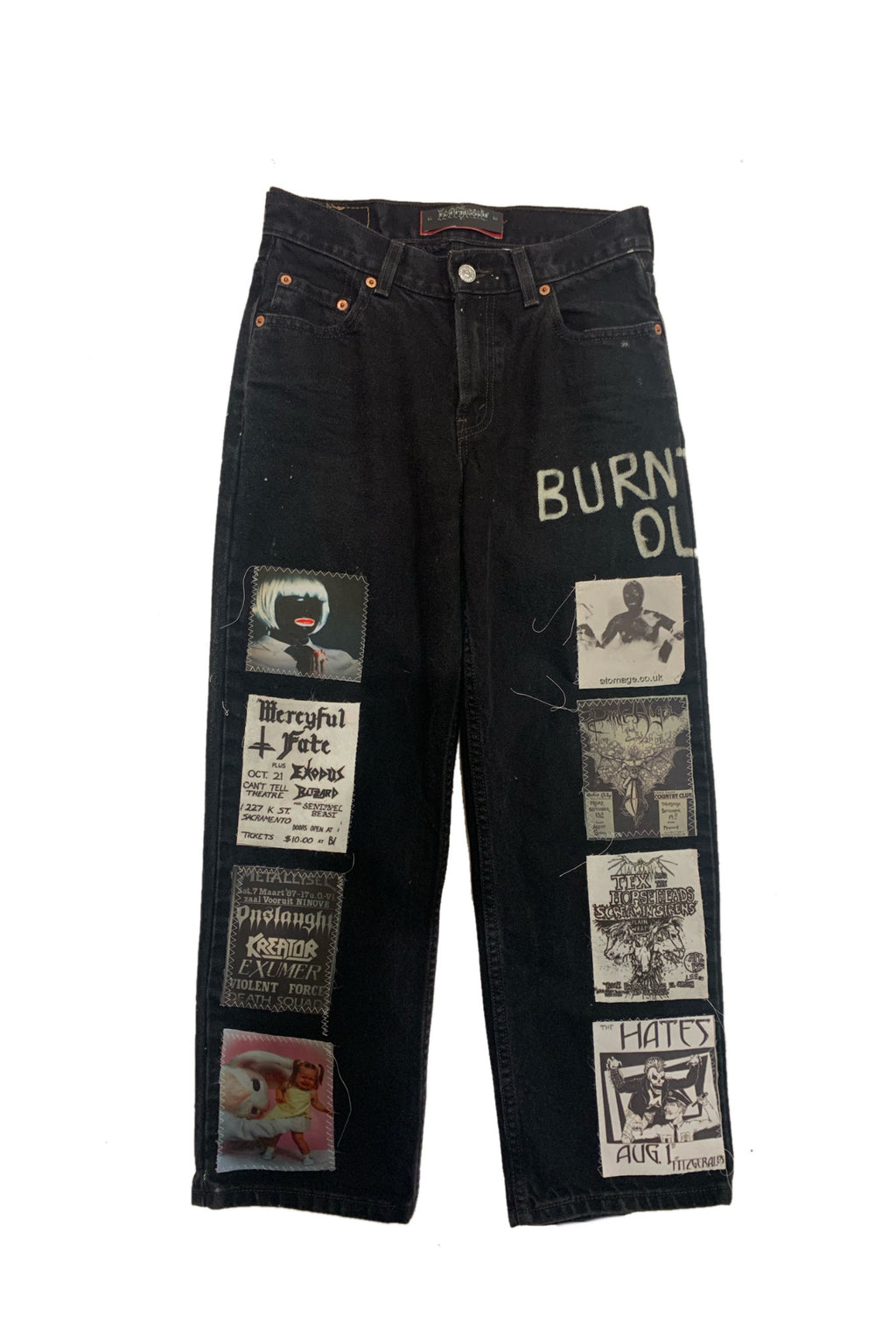 Burn out jeans