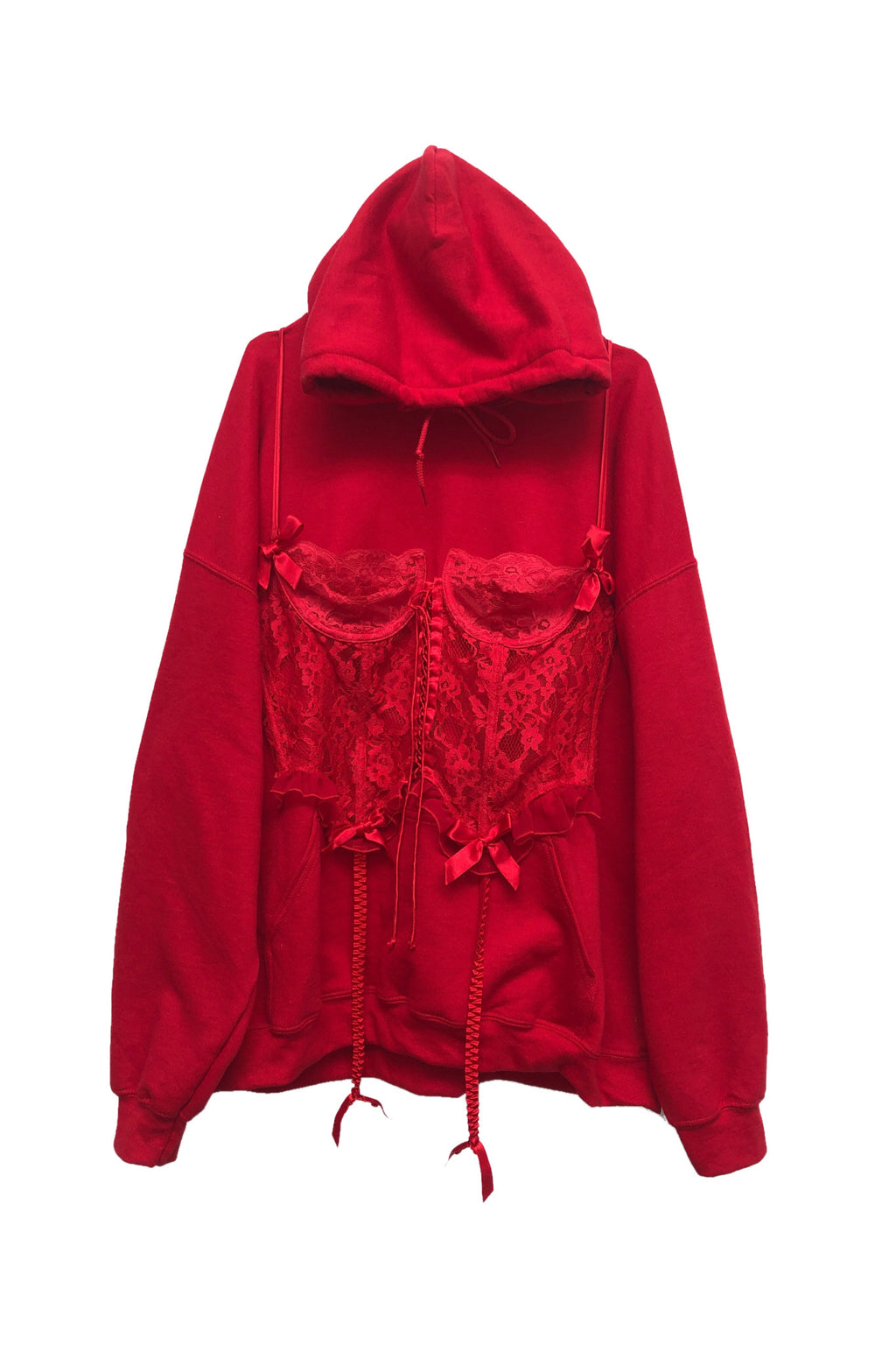 Red corset hoodie