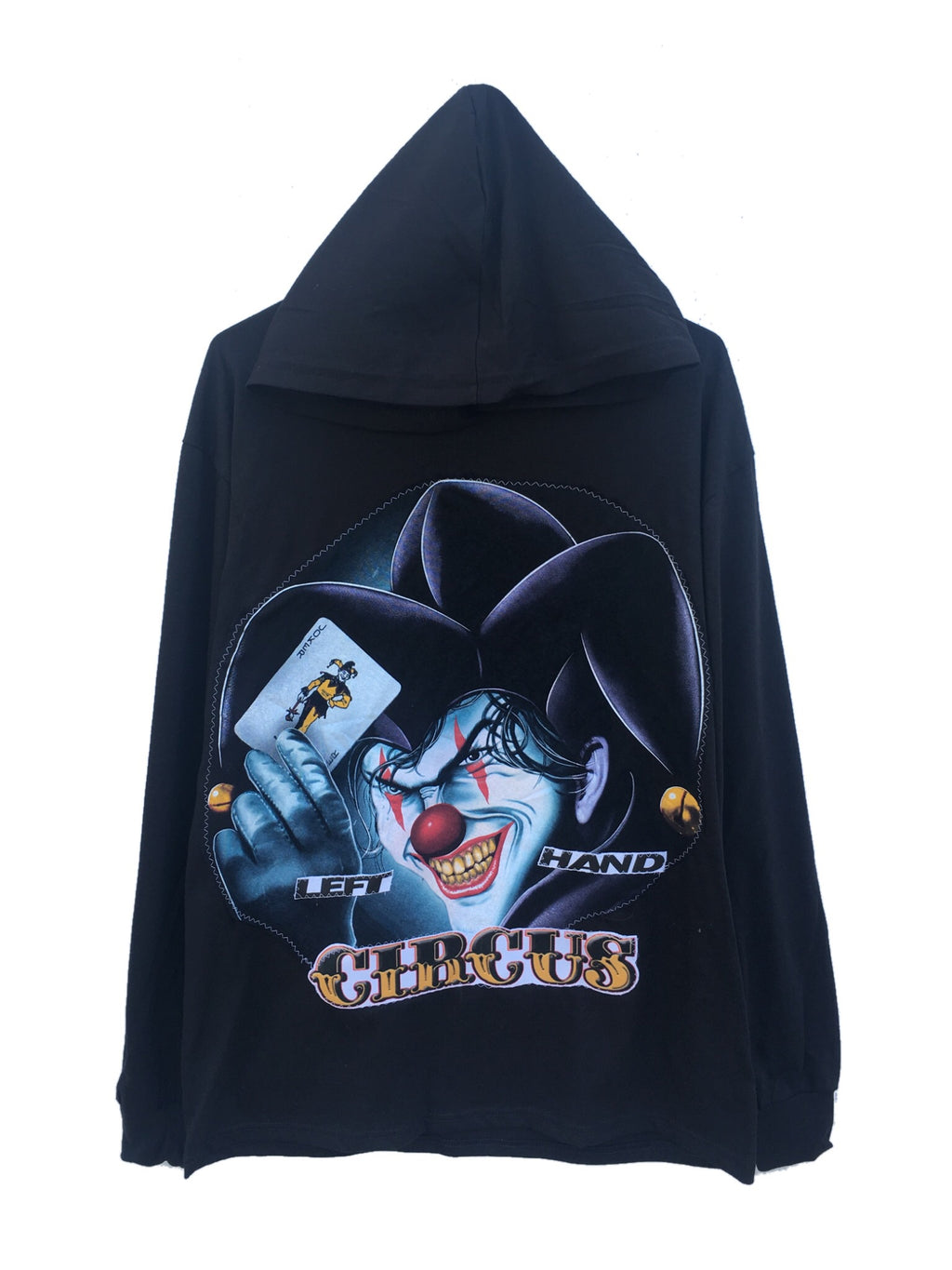 The joker hooded tee shirt