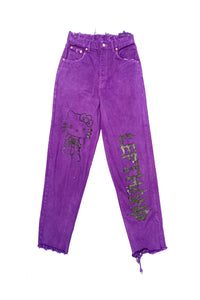 Purple kitty jeans