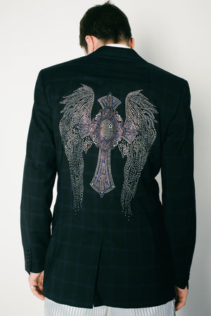 Wing cross blazer