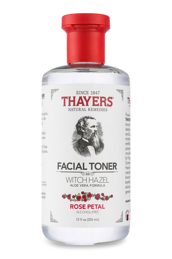 Thayers Alcohol-Free Witch Hazel Toner Rose Petal, 12 Fluid Ounce