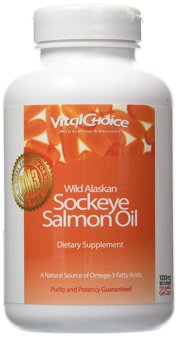 Wild Sockeye Salmon Oil 1000mg soft gels, 180 ct