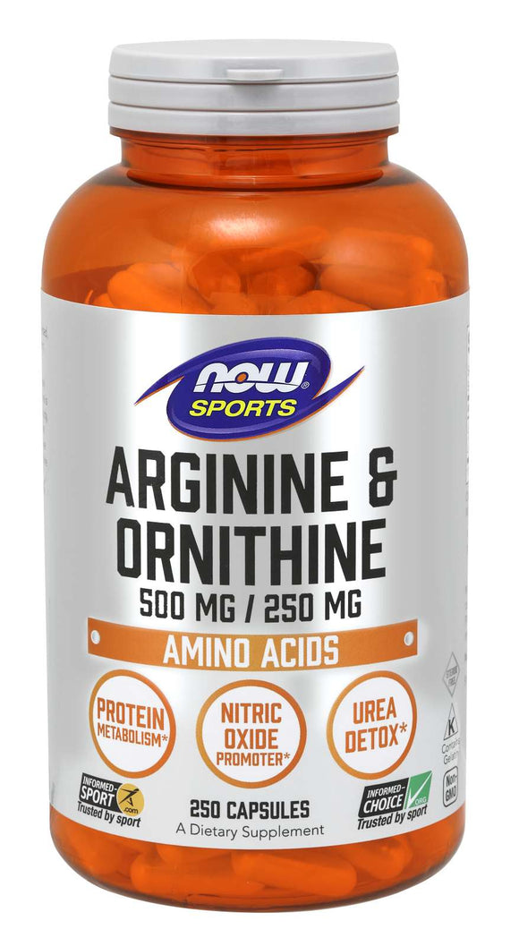 NOW Foods Sports L-Arginine/Ornithine 500/250 mg