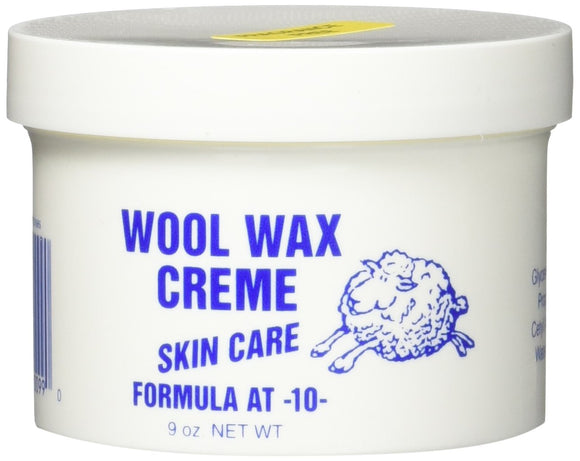 Wool Wax Creme Skin Care Formula 9 Ounce (Fragrance-Free)
