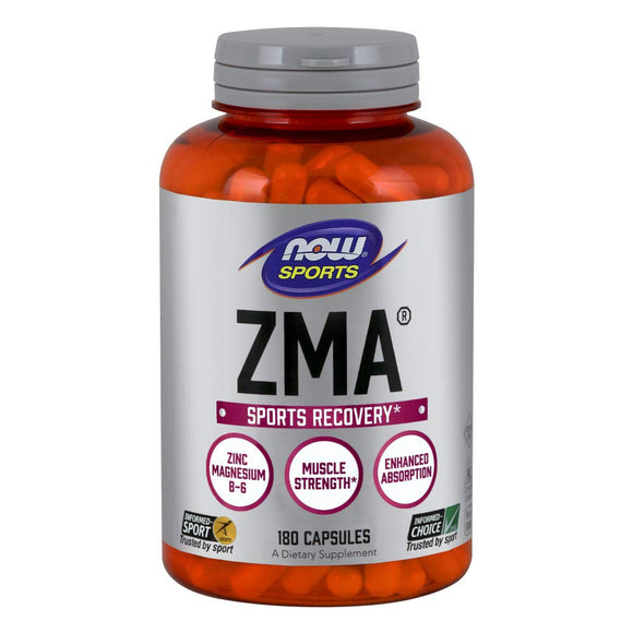NOW Sports Recovery ZMA® 800 mg (Zinc, Magnesium, B-6) Capsules