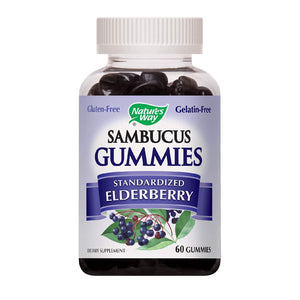 Nature's Way Sambucus Elderberry Gummies, Herbal Supplements 60 Gummies