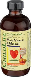 Child Life Multi Vitamin and Mineral, 8-Ounce