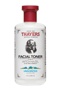 Thayers Alcohol-Free Witch Hazel Toner Unscented, 12 Fluid Ounce
