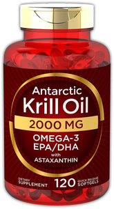 Antarctic Krill Oil 2000 mg 120 Softgels | Omega-3 EPA, DHA