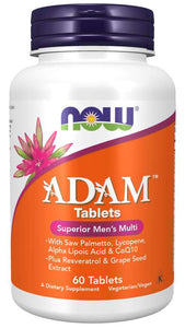 NOW Foods ADAM  The Ultimate Men's Multiple Vitamin 2/Day Formula Tablets