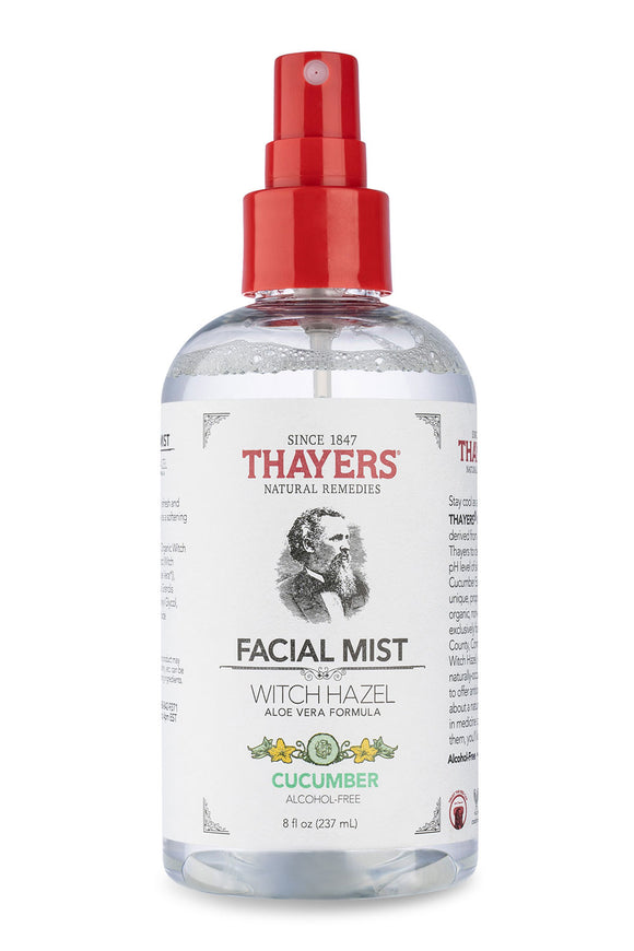 Thayers Alcohol-Free Witch Hazel Facial Mist Cucumber, 8 Fluid Ounce