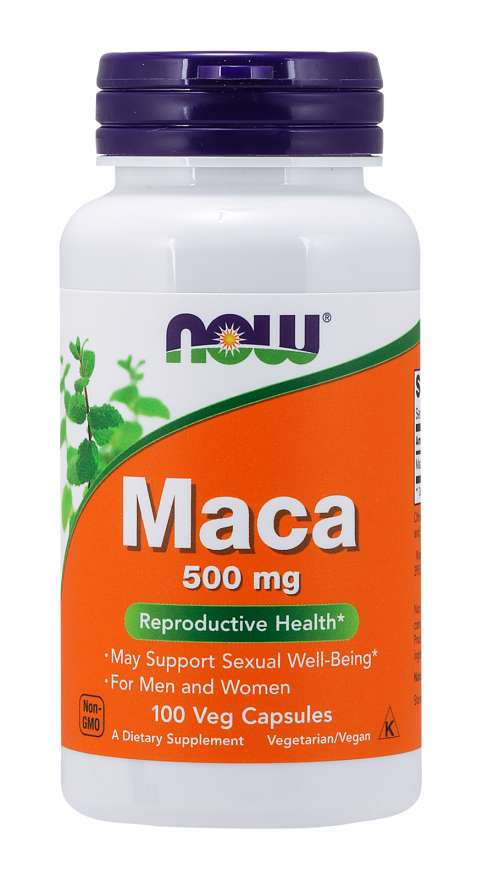 NOW Foods Maca (Lepidium meyenii) 500 mg Reproductive Health Veg Capsules