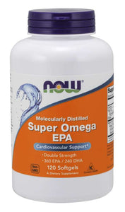 NOW Foods Super Omega EPA 1,200 mg (360 mg EPA, 240 mg DHA) Molecularly Distilled Softgels