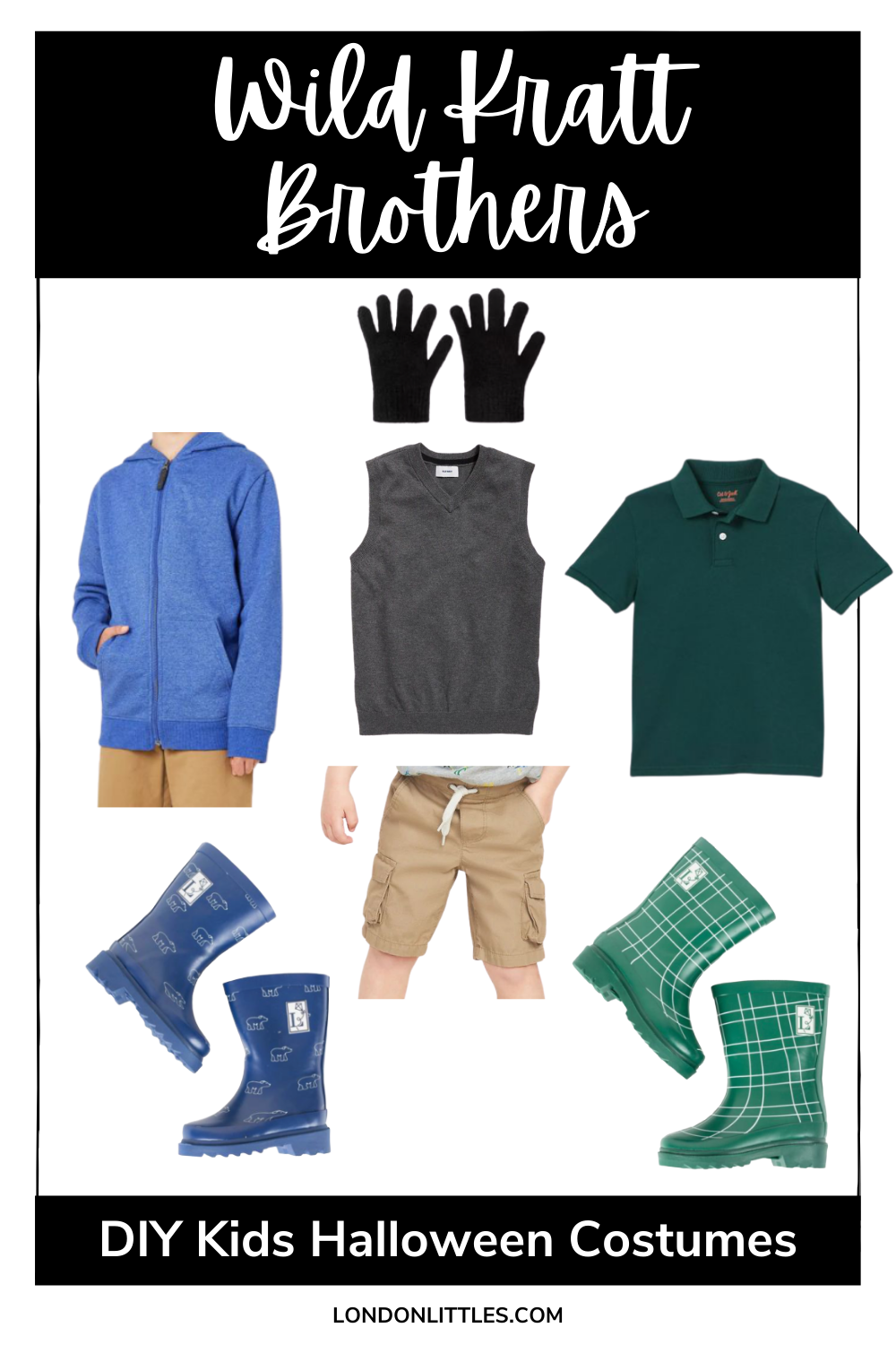 diy kids halloween costumes wild kratt brothers