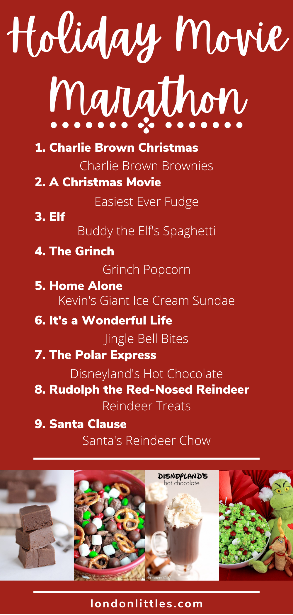 holiday movies for the family with treats