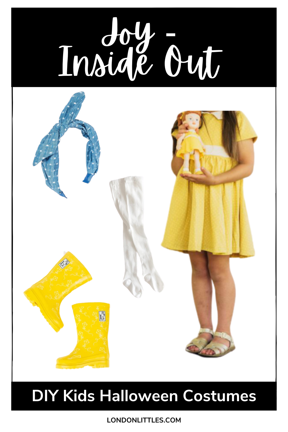 DIY kids halloween costumes Joy Inside Out