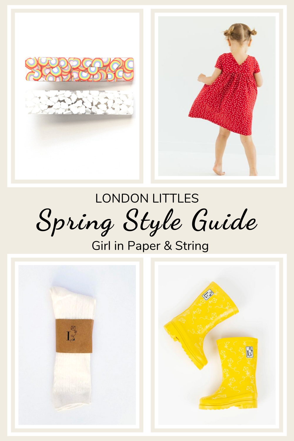 Spring Style Outfit Guide Girl red dress with yellow rain boots