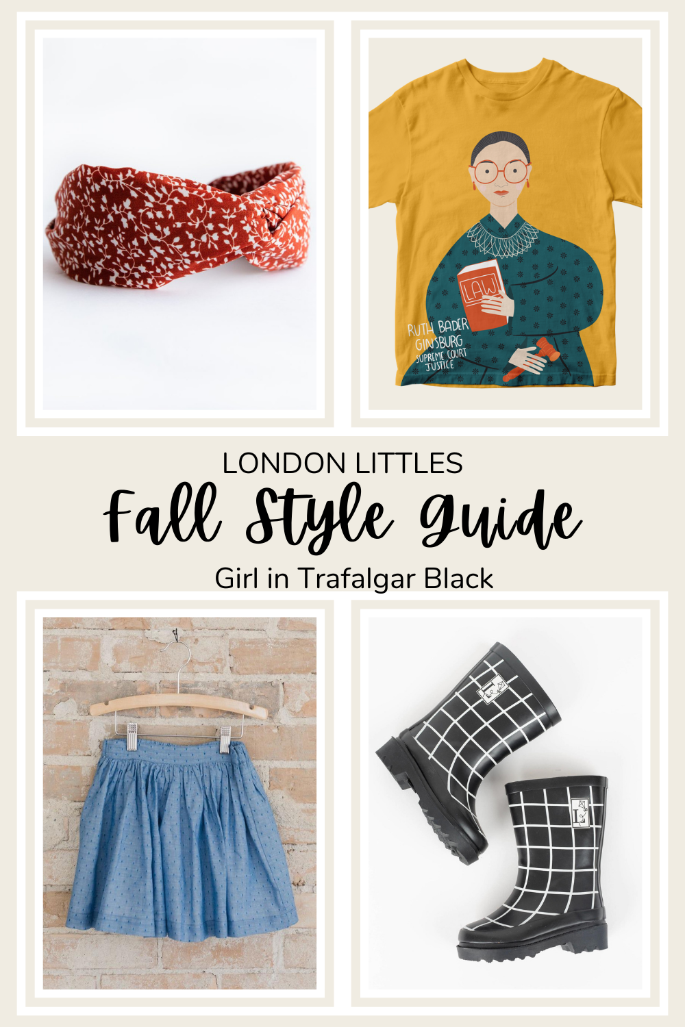 fall style guide RGB shirt for girls rain boots