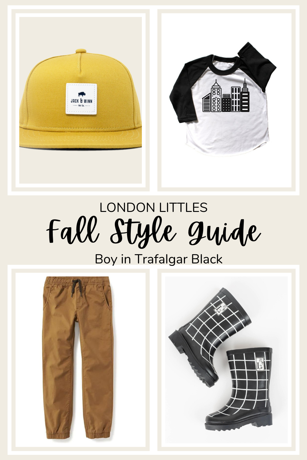 fall style guide boy black and white rain boots