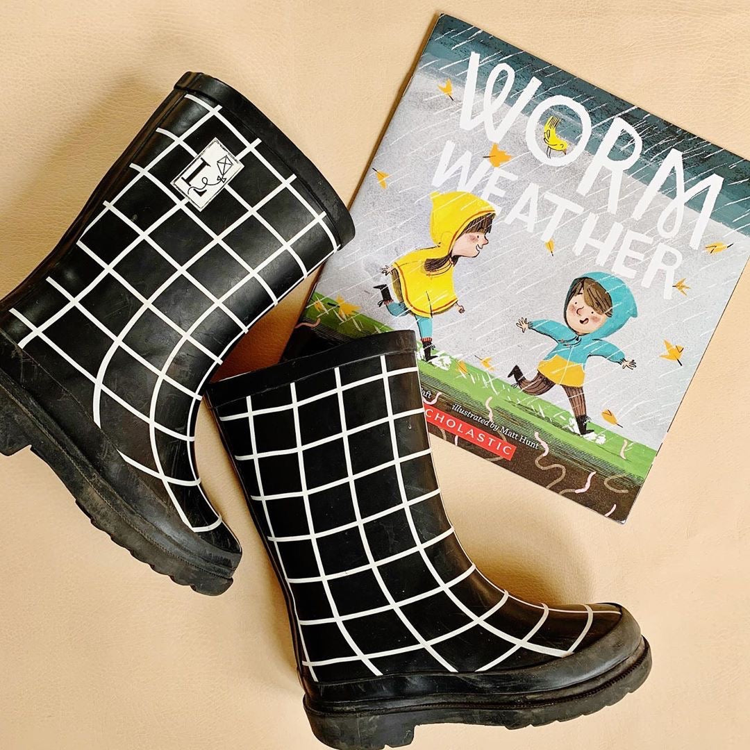 black london littles rain boots and worm weather children's book