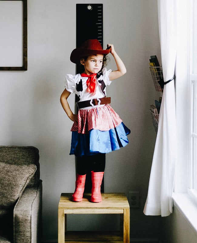 cowgirl kids halloween costume with boots