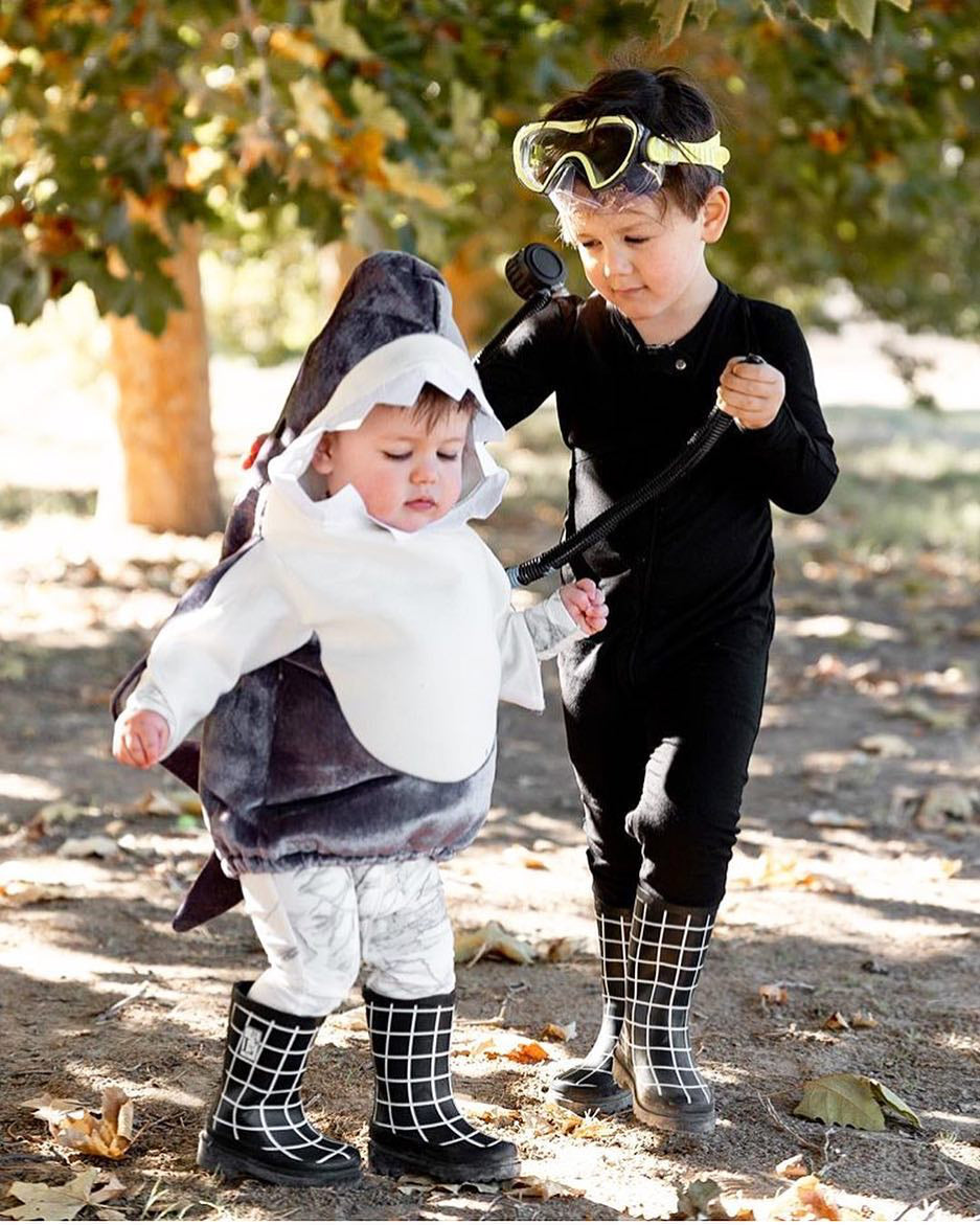 Diver and Shark kids halloween costume