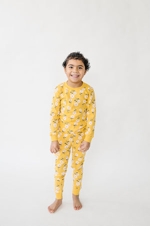 Yellow Floral Pajamas